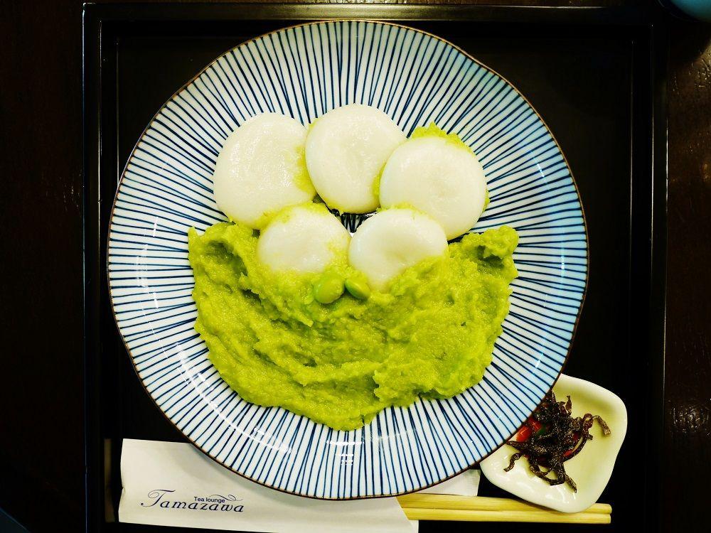 和菓子専門店「玉澤総本店」の五感でいただく美しいずんだ餅
