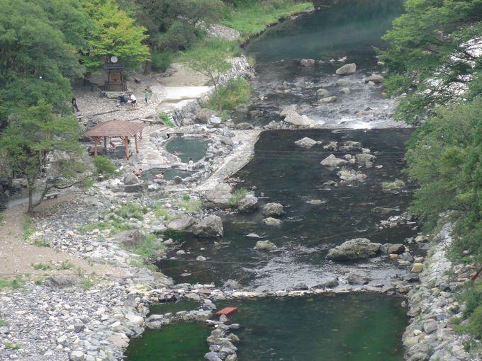 ダムの上からの眺めも最高!