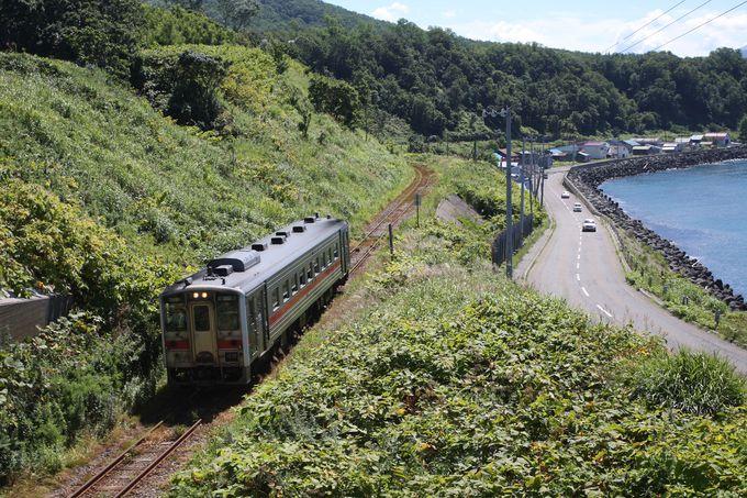 留萌駅からは日本海に沿って…