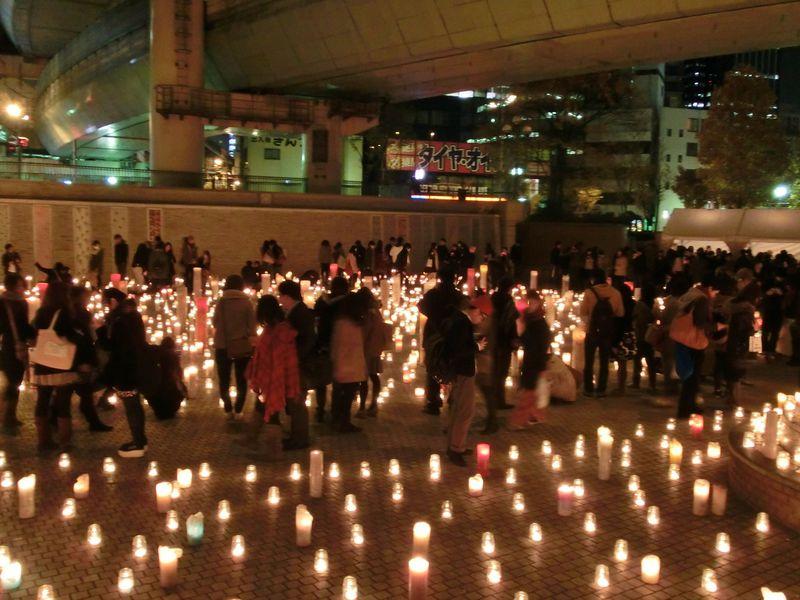 キャンドルだけで過ごす大阪の夜…100万人のキャンドルナイト