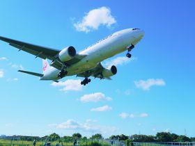 伊丹空港の飛行機が頭上に!32Lエンド・千里川土手へレンタサイクルでGO!|大阪府|トラベルjp<たびねす>