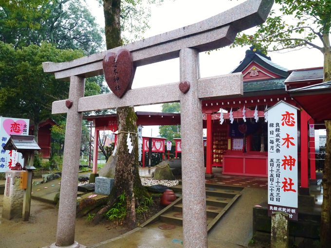 御神紋もハートの恋木神社