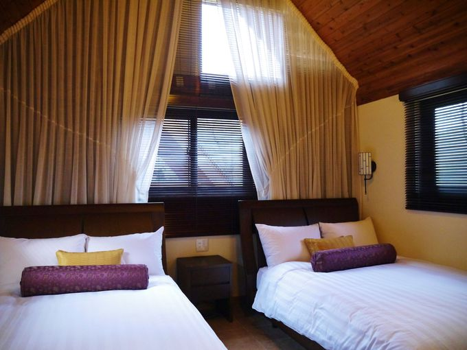 アジアンヴィラのベッドルーム