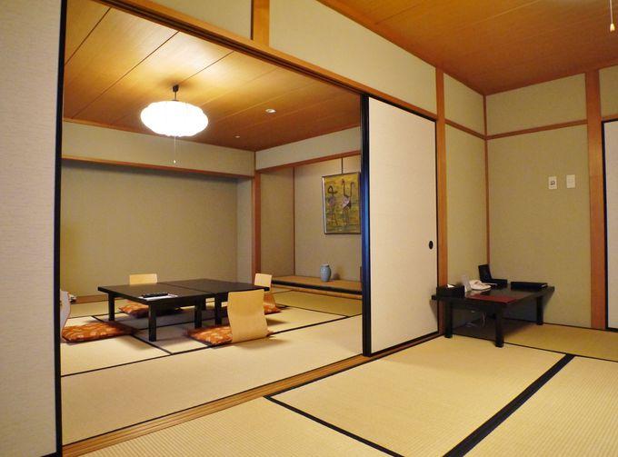 檜のお風呂付きの広々和室