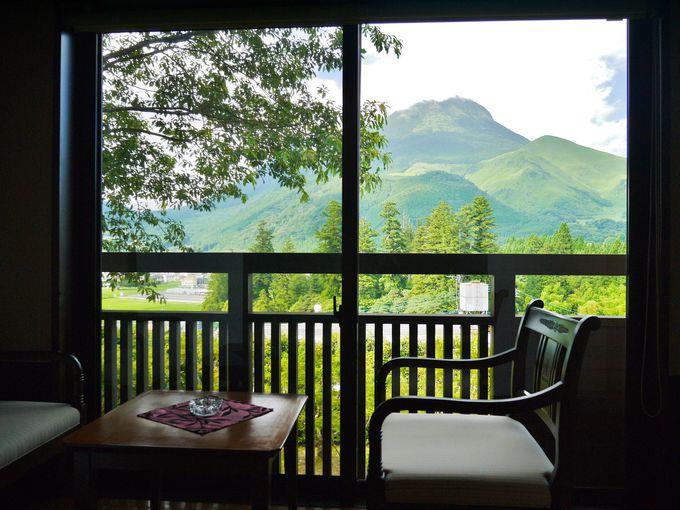 お部屋から由布岳の絶景