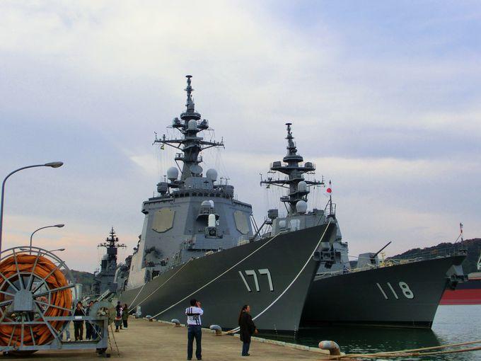 北吸桟橋(自衛隊桟橋)で海上自衛隊艦艇見学