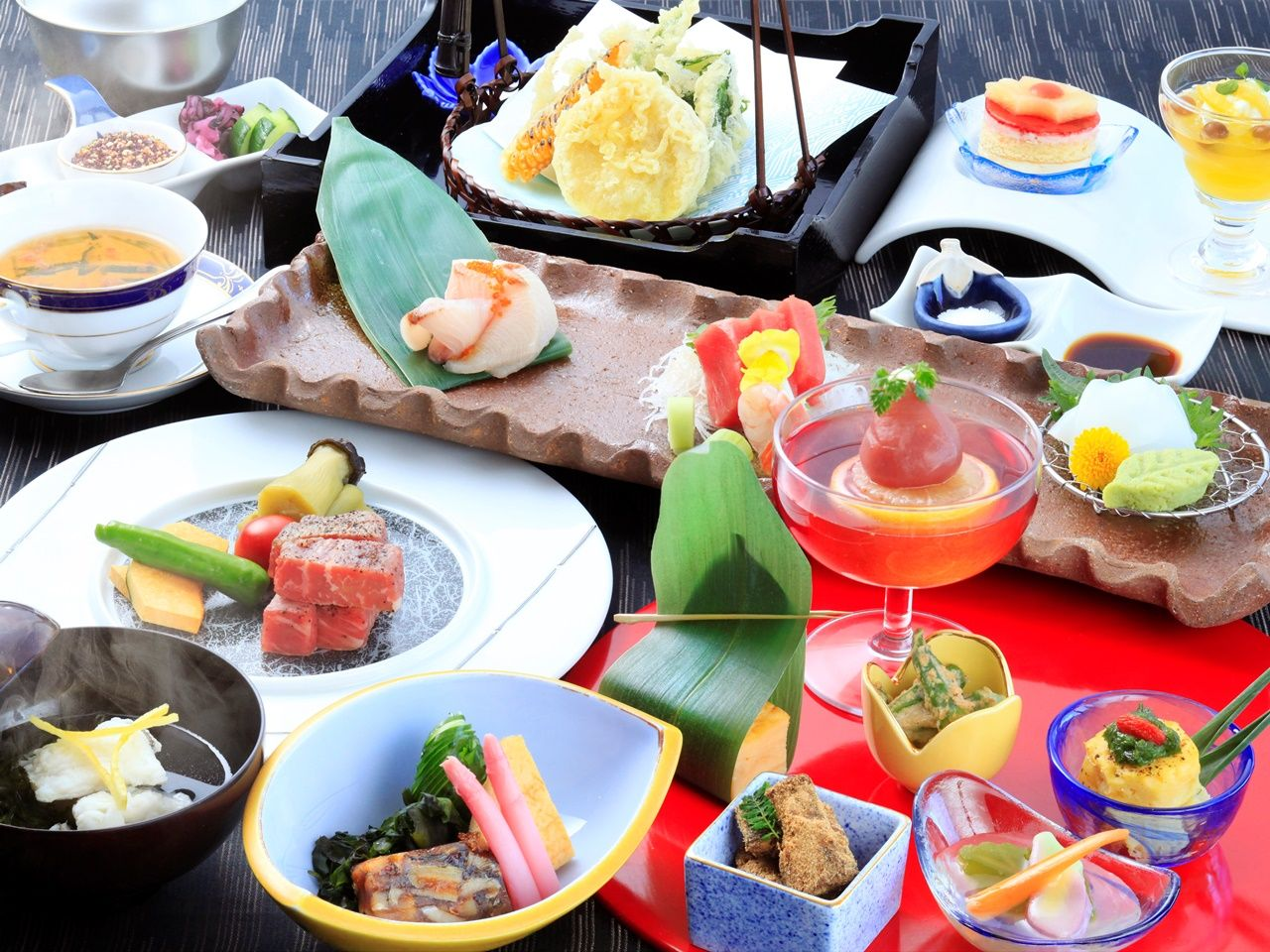 夕食は伊豆の恵みで創作和食会席