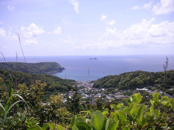 島ならではの景色☆山から眺める海が絶景!