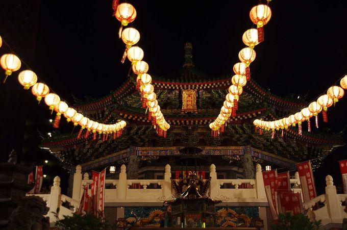 夜の横浜媽祖廟はすごい!