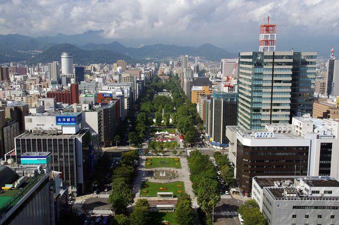 360度ぐるっと一周!札幌の景色が楽しめる「展望フロア」