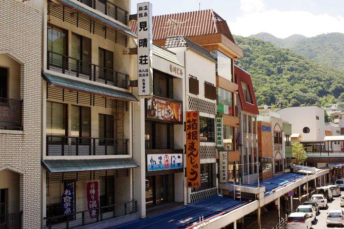 温泉とグルメが満喫出来る、あじさい電車の始発着駅「箱根湯本」