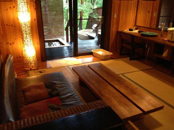 お湯も雰囲気も最高!鬼怒川温泉、貸し切り露天風呂「あけび」へ!