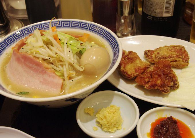 ボリューミー!そして唐揚げもうまい『東京タンメン トナリ』