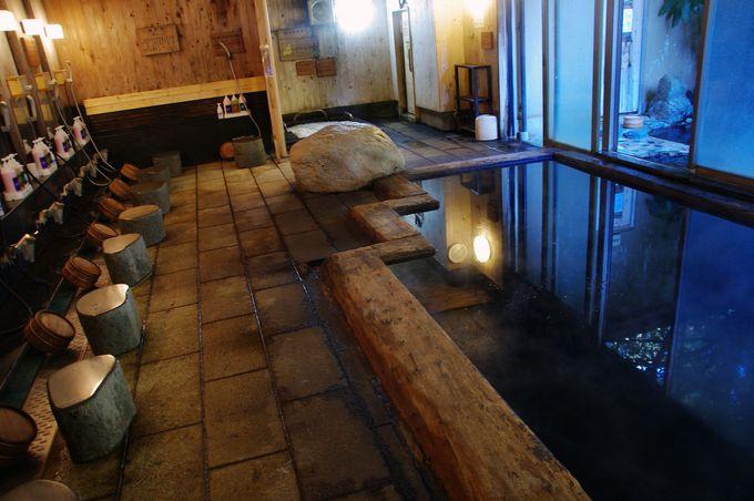 竹・炭・波動石で出来ている!内湯でパワー注入