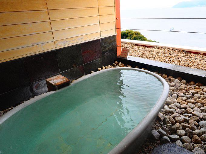 予約殺到!4種類の専用個室付き 貸切露天風呂