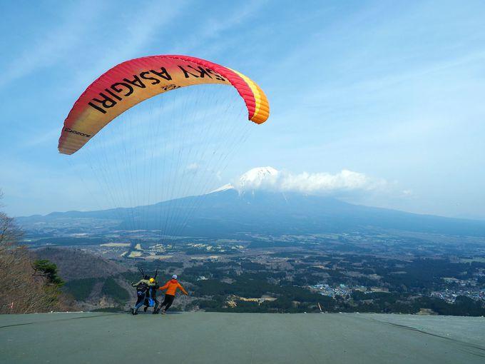 """富士山の麓のパラグライダースクールで気軽に""""パラ""""を体験"""