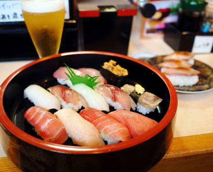 マグロ料理の定番、お寿司ならここ!「廻転寿司 海鮮」
