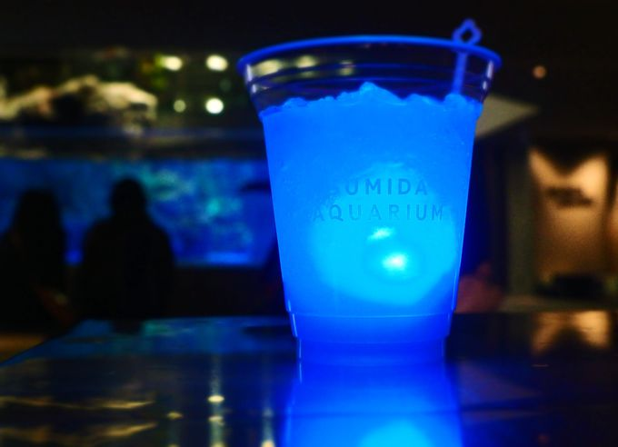 青く光る不思議なお酒「ブルーナイトカクテル」