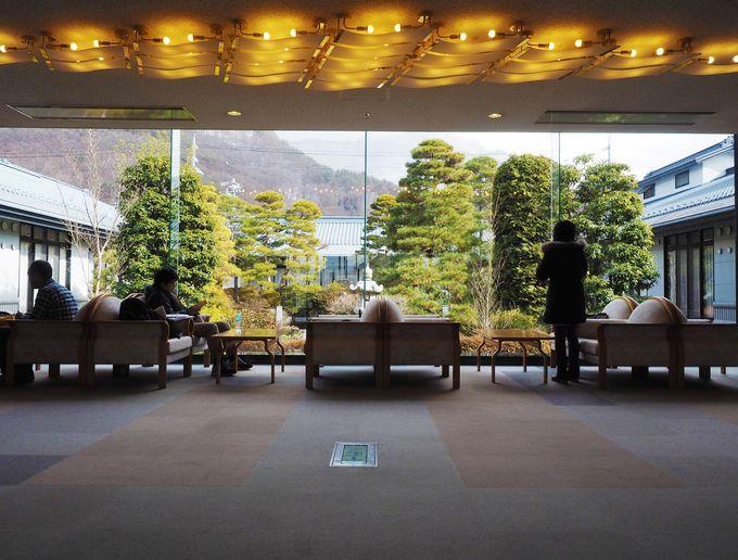 国民宿舎と思えない、豪華な日本庭園