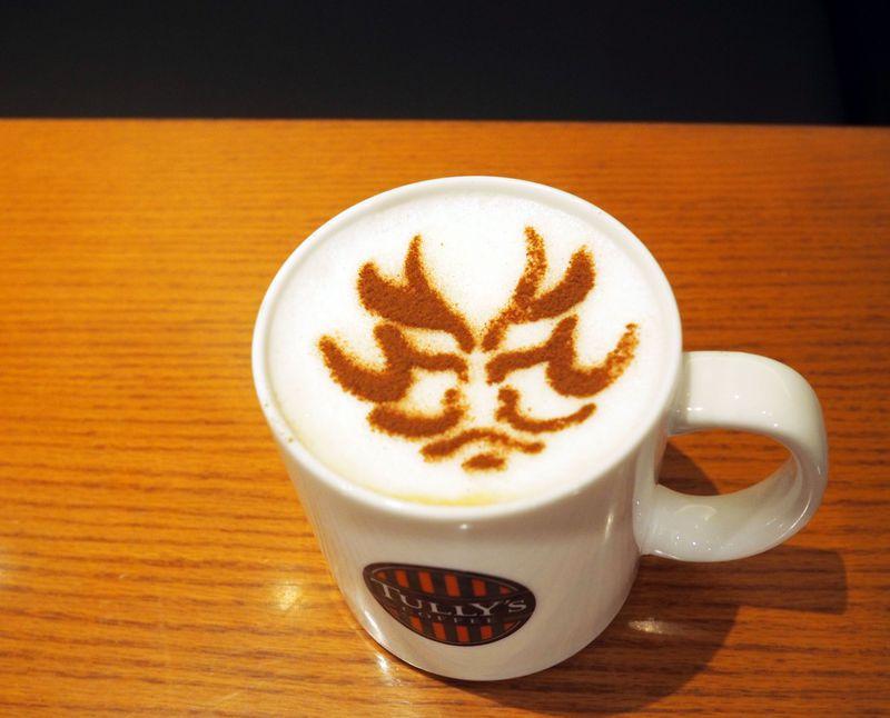 飲める歌舞伎!?タリーズコーヒー歌舞伎座店の限定カプチーノが面白い!