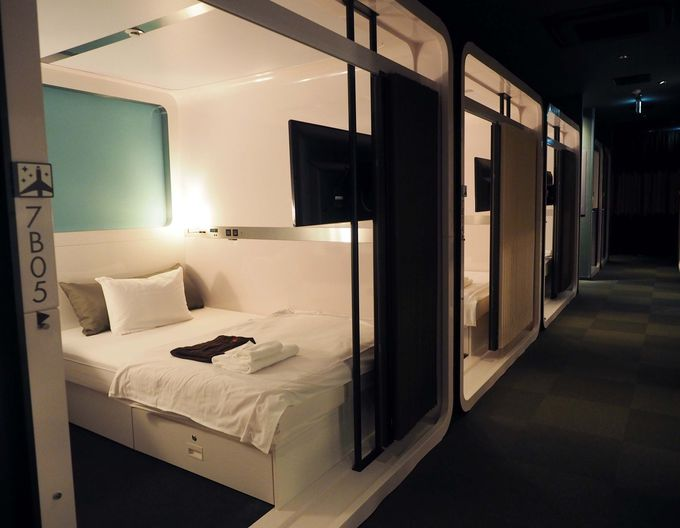新橋:「ファーストキャビン愛宕山」は隠れ家的カプセルホテル
