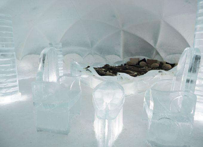 宿泊体験できる氷のホテル