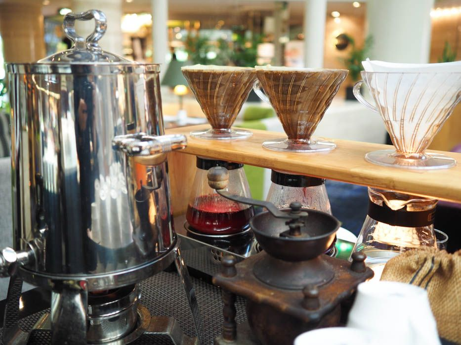 ビュッフェでは珍しい!ドリップした美味しいコーヒー