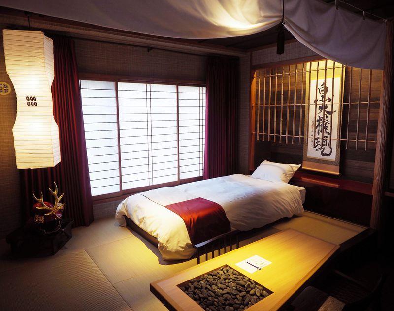 1人のんびり真田幸村ルーム!長野・別所温泉「上松屋旅館」の真田戦国部屋