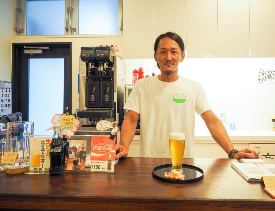 1杯200円〜!風呂上がりには、達人が作る生ビールを