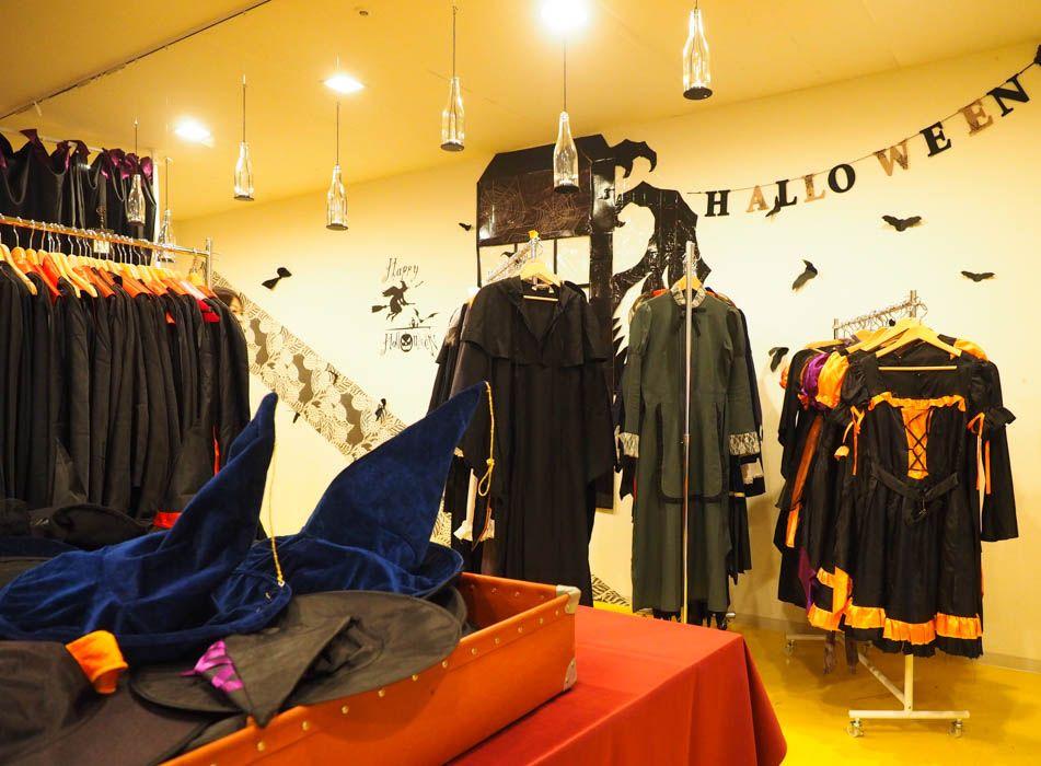 まずは衣装部屋でハロウィン衣装をレンタル