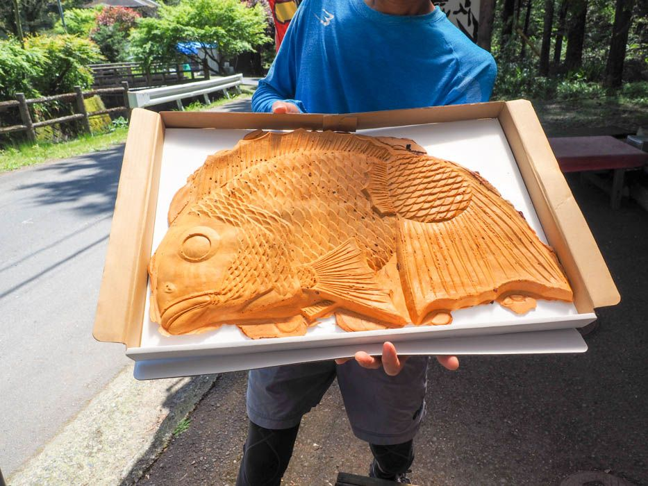 まるで抱き枕!静岡・丸子峠大鯛焼き屋の「世界一大きい鯛焼き」