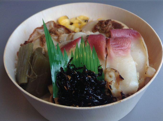 活ホタテ・ホッキ バター焼き弁当 ¥980(税込み)