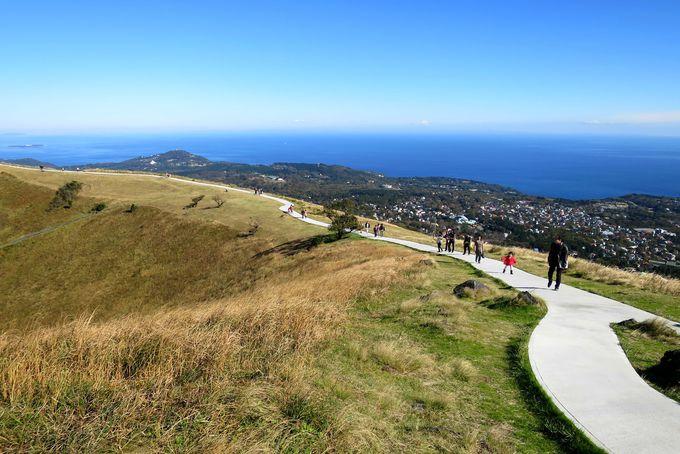 360度の見晴らしは仙人気分の遊歩道