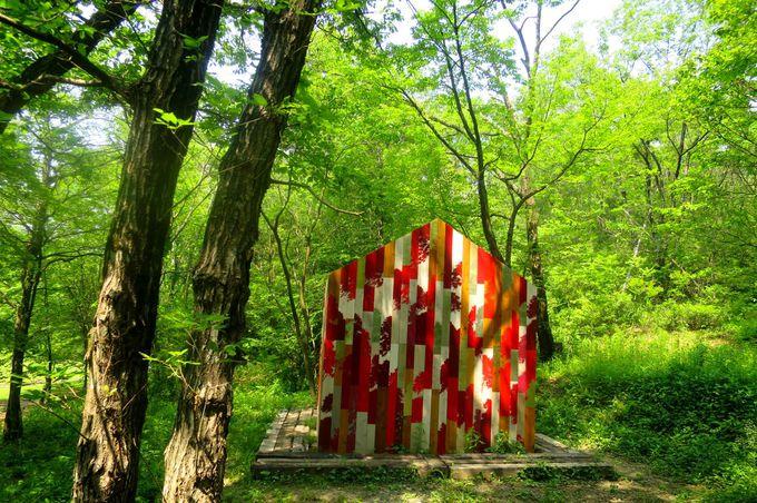 その変化が楽しい創作の森、野外展示