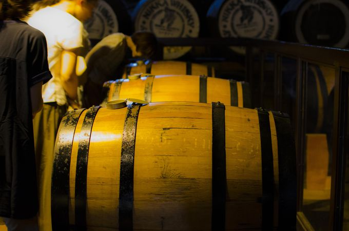 蒸溜所見学で学んだ後は、一段とウイスキーが欲しくなる!
