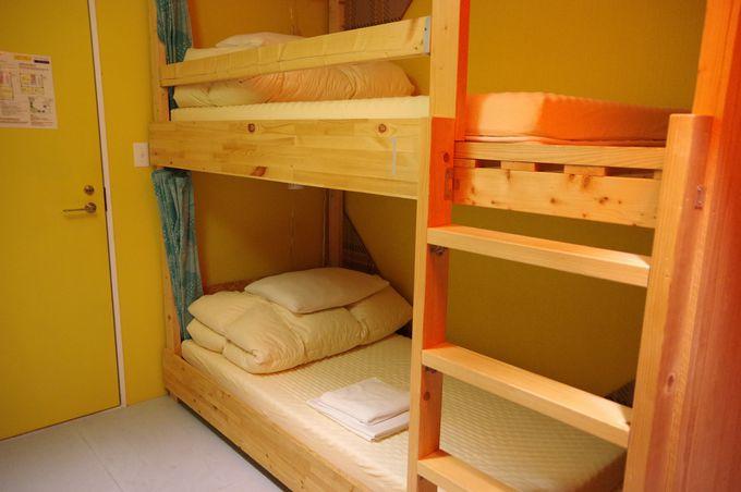 部屋のタイプは相部屋と個室