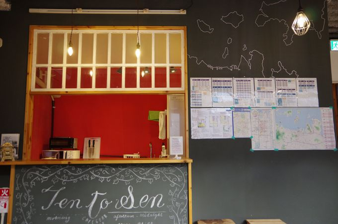 カフェのような共有スペースは居心地抜群