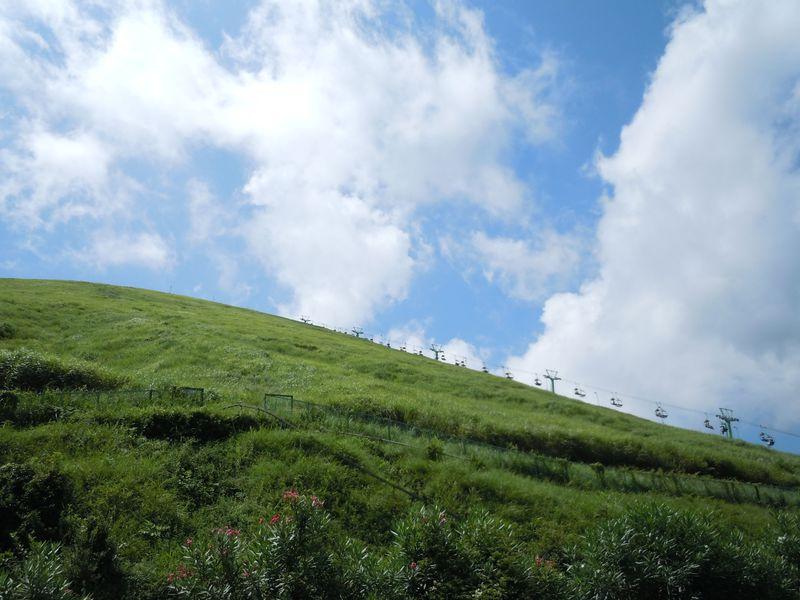 気分爽快〜!伊豆・大室山の曲線美!リフトで蒼蒼とした山頂へ。