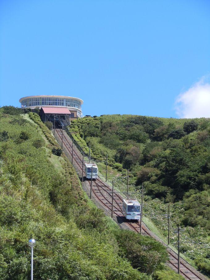 箱根・十国峠ケーブルカーに乗って山頂へ