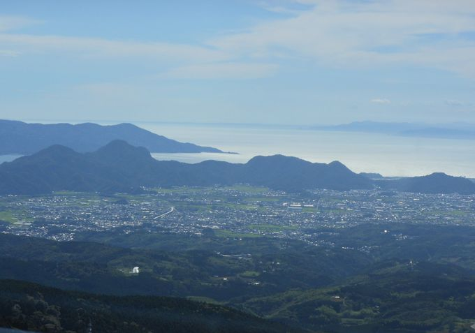 十国峠山頂からの眺め。