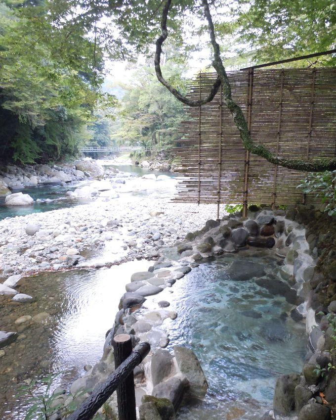 源泉そのまま、かけ流しの露天風呂