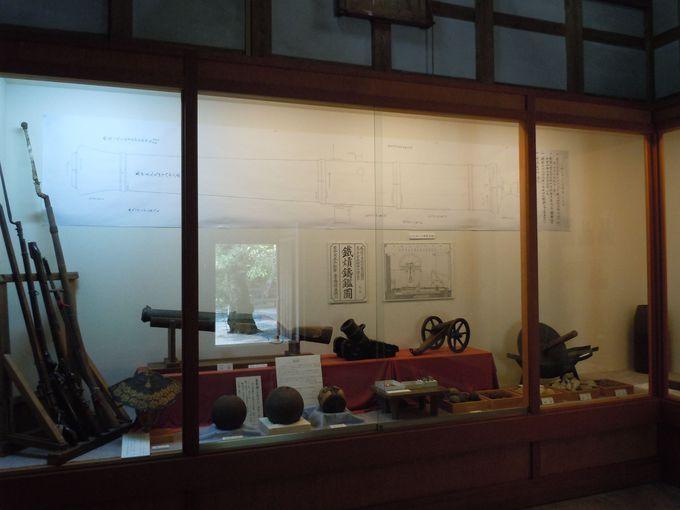 反射炉の資料が展示されている「江川邸」