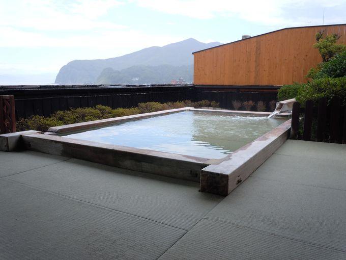 「たたみの宿 湯の花亭」の名物 野天風呂