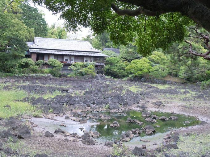 池の水量が変わる、珍しい池