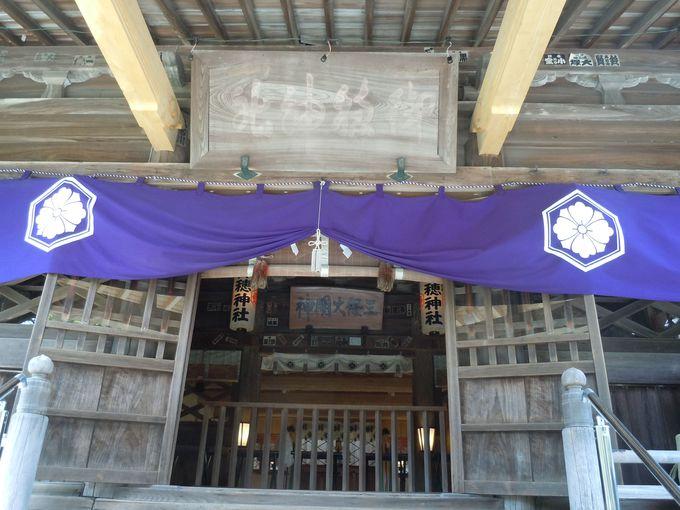 神の道を通って行く神社