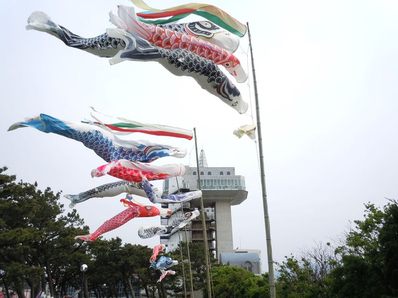 展望水門びゅうおからの眺めも必見!沼津市「こいのぼりフェスティバル」