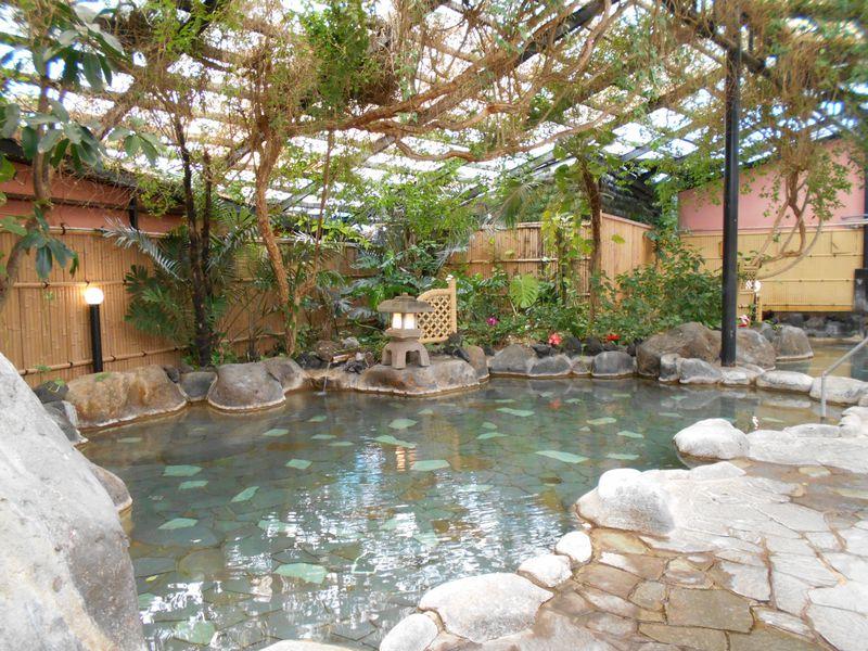 ジャングル風呂に若返りの湯?!伊豆・熱川「ホテル志なよし」