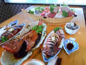 特産の金目鯛+泉質抜群の絶景風呂!東伊豆・漁師の宿「白田荘」|静岡県|トラベルjp<たびねす>