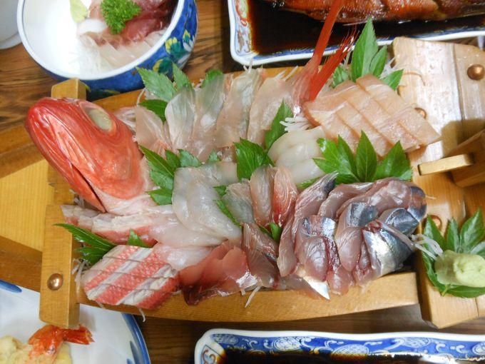 お楽しみ!近海で獲れた鮮魚を使った極旨料理