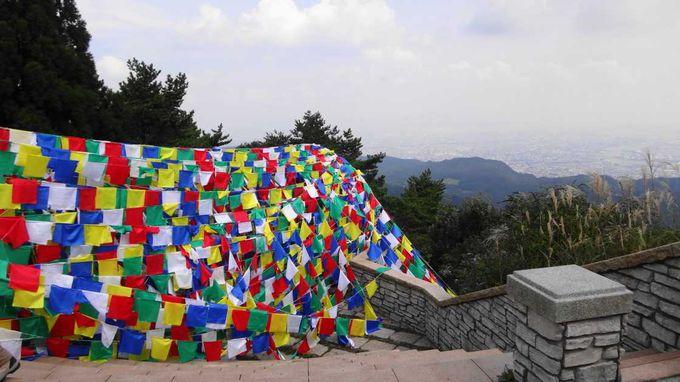六甲ガーデンテラスには、ものすごい数の旗が!